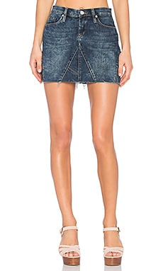 Denim Mini Skirt in Side Hustle
