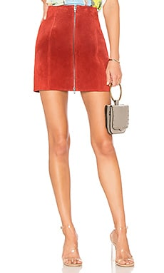 Zipper Suede Mini Skirt BLANKNYC $69