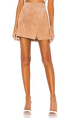 High Rise Suede Skirt BLANKNYC $98