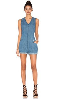 BLANKNYC V Neck Romper in Bobble Head