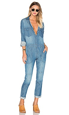 BLANKNYC Button Up Jumpsuit in Ex Ray Vision