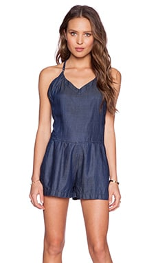 BLANKNYC Romper in The Denim Slutty