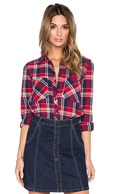 BLANKNYC Plaid Button Up in Hot Mess