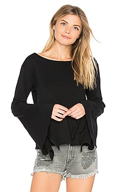 Bell Sleeve Top in Shadow