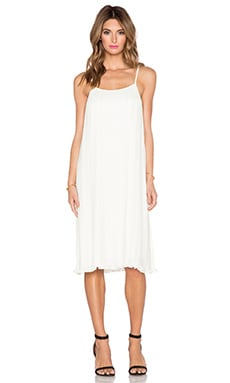 BLAQUE LABEL Pleated Sundress in White