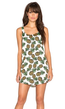 BLAQUE LABEL Pineapple Tank Dress in White