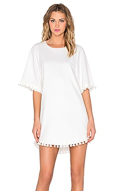 Tassel Mini Dress in White