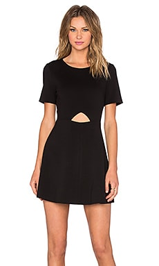 BLAQUE LABEL Cut Out Fit & Flare Dress in Black