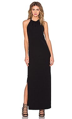 Backless Maxi Dress en Noir
