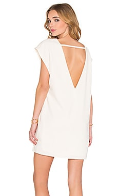 BLAQUE LABEL V-Back Dress in White