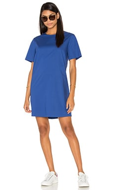 Oversized Poplin Dress in Navy