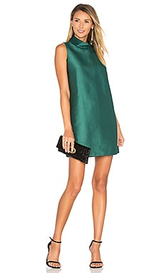 High Neck Dress in Dark Green