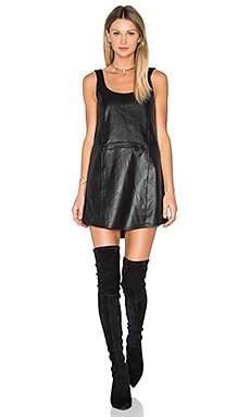 Leather Tank Dress in Black