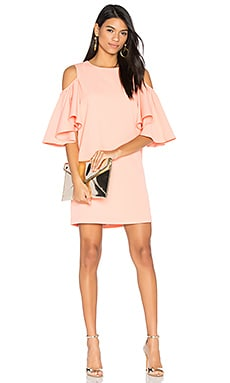 Cold Shoulder Dress in Rose