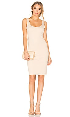 Scoop Neck Dress in Sand