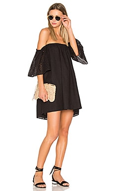 Eyelet Dress in Black