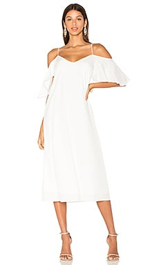 Cold Shoulder Sun Dress in White