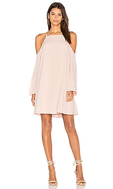 Exposed Shoulder Dress in Petal Pink