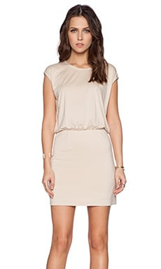 BLAQUE LABEL Bloused Dress in Tan
