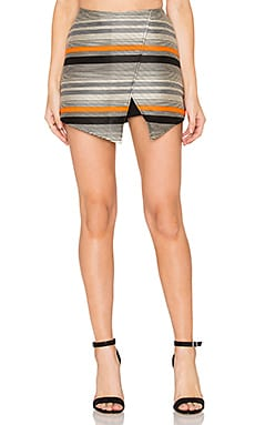 Stripe Wrap Skort in Orange