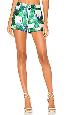 Tailored Short in Green Print