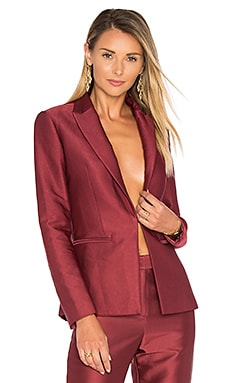 Fitted Blazer in Bordeaux