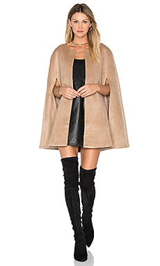 Wool Cape in Tan