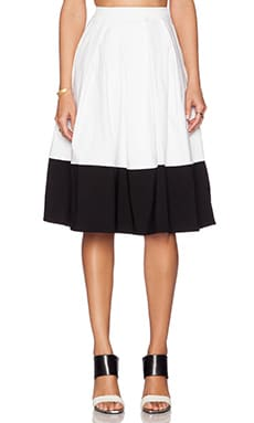 BLAQUE LABEL Two Tone Skirt in White & Black