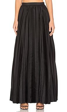 BLAQUE LABEL Pleated Maxi Skirt in Black
