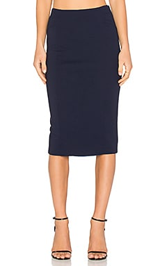 BLAQUE LABEL Knit Pencil Skirt in Navy