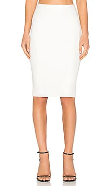 BLAQUE LABEL Knit Pencil Skirt in White