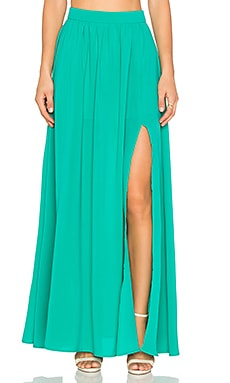 x REVOLVE Maxi Skirt in Green