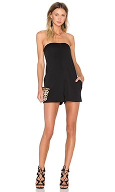 Strapless Romper in Black
