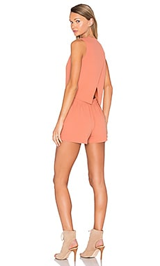 BLAQUE LABEL Cross Back Romper in Persimmon