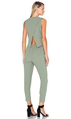 Cross Back Jumpsuit in Sea Spray