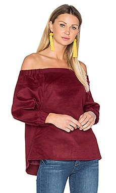 Off Shoulder Top in Bordeaux