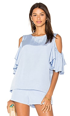 Cold Shoulder Top in Sky