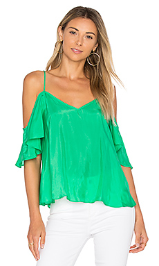 Ruffle Top in Kelly Green