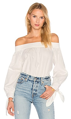 Poplin Off Shoulder Top