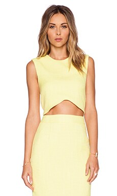 BLAQUE LABEL Woven Crop Top in Yellow