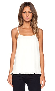 BLAQUE LABEL Pleated Tank Top in White