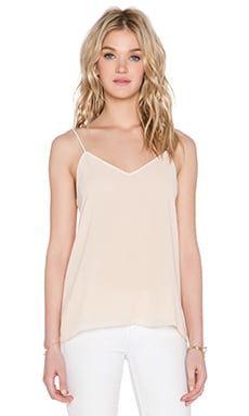 BLAQUE LABEL Contrast Tank Top in Pale Nude & White