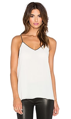 Contrast Tank Top in White & Black