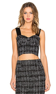 BLAQUE LABEL Tweed Bustier Top in Black & White