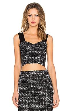 BLAQUE LABEL Tweed Bustier Top in Black & White