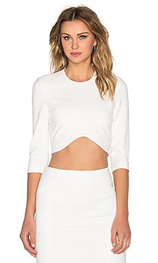 BLAQUE LABEL 3/4 Sleeve Crop Top in White