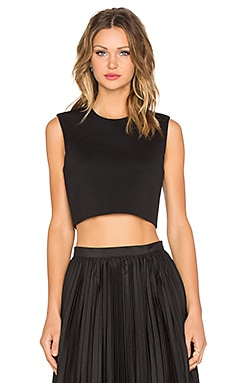 BLAQUE LABEL Sleeveless Crop Top in Black