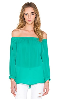 Off Shoulder Top in Sea Green