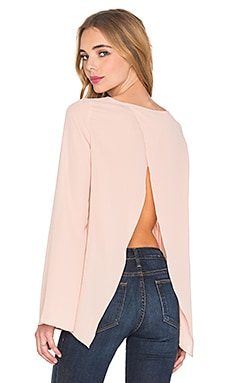 BLAQUE LABEL Open Back Top in Blush