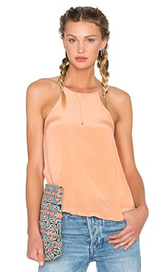 Silk Halter Tank in Pale Blush